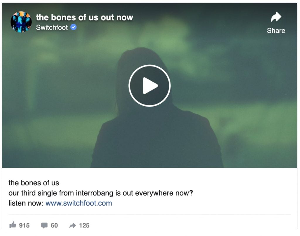 the bones of us out now facebook video